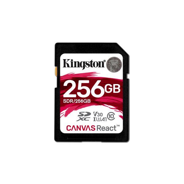 MEMORIA KINGSTON CANVAS R SDXC UHS-I U3 256GB CL10 80MB/S C/ADAPTADOR