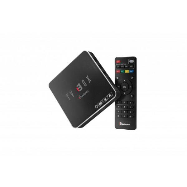 TV BOX BLACKPCS ANDROID 5.1 NETFLIX 4K HDMI USB WIFI RJ45 EO104K-BL