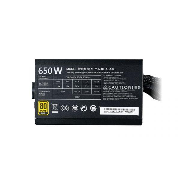 FUENTE DE PODER COOLER MASTER MWE 650W GOLD MPY-6501-ACAAG