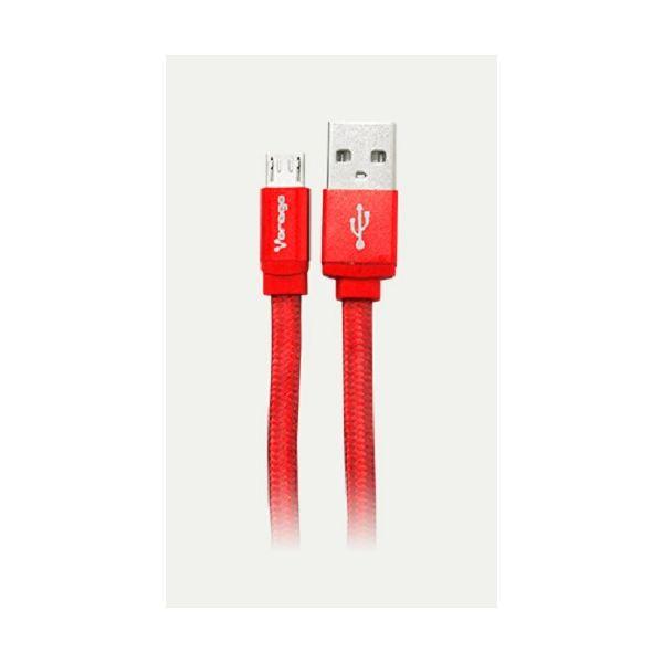 CABLE MICRO USB VORAGO CAB-113 ROJO 1METRO BOLSA