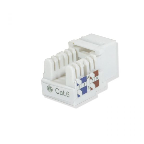 KEYSTONE JACK LOGICO KJ6221 COLOR BLANCO DE PLASTICO CAT 6