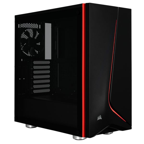 GABINETE GAMER CORSAIR SPEC-06 BLACK TG USB 3 ATX S/FTE CC-9011144-WW