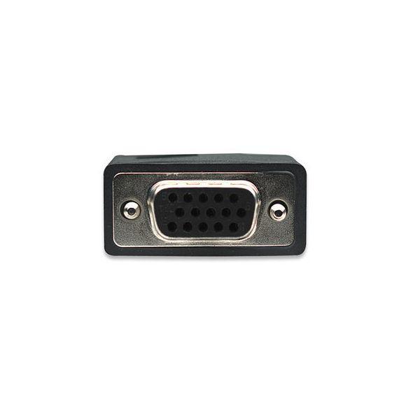 CABLE MANHATTAN SVGA HD15 MACHO A HD15 HEMBRA 7.5M NEGRO 327015