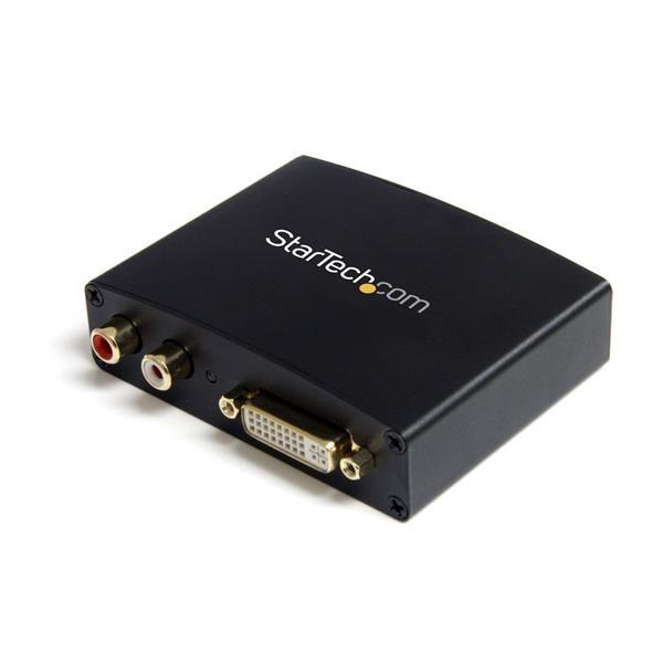 Adaptador Convert DVI-D a HDMI Audio RCA PC a HDTV  STARTECH DVI2HDMIA