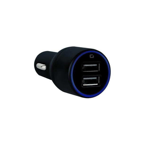 CARGADOR DE AUTO MOBIFREE 2 PUERTOS USB NEGRO MB-923323