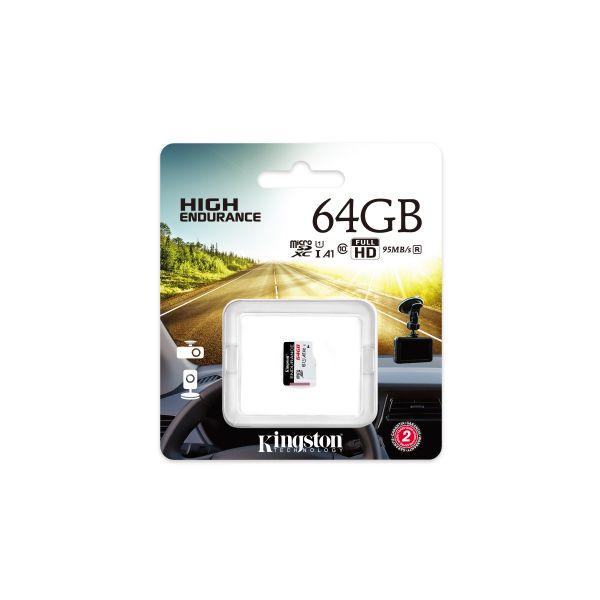 MEMORIA MICRO SDXC KINGSTON ENDURANCE 95R/30W CL10 A1 SDCE/64GB