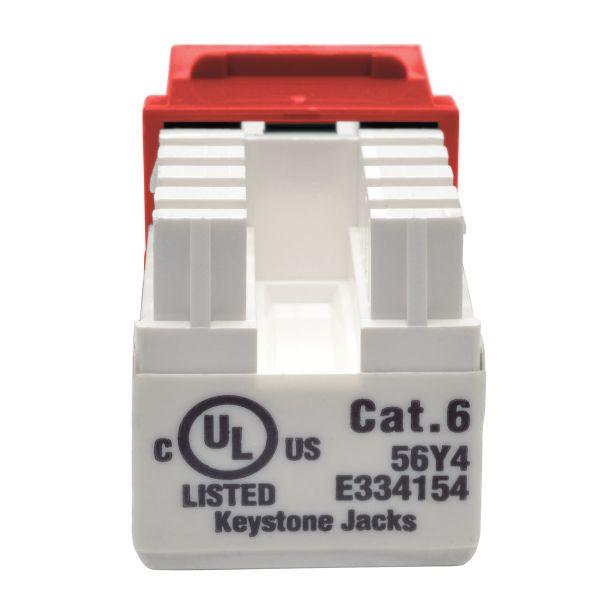 JACK TRIPP LITE CAT6/CAT5E 110 RJ-45 HEMBRA ROJO N238-001-RD
