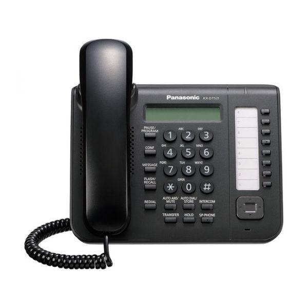 TELEFONO DIGITAL PANASONIC KX-DT521X-B 1 LINEA PANTALLA ALTAVOZ NEGRO