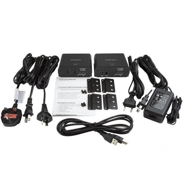 Extensor USB 2.0 2PTOS Cat5 o Cat6 Hasta 100m  STARTECH USB2002EXT2