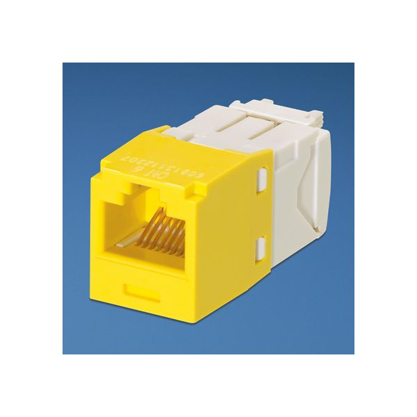 MINICOM PANDUIT cj688tgyl PARA RJ-45 COLOR BLANCO CON AMARILLO