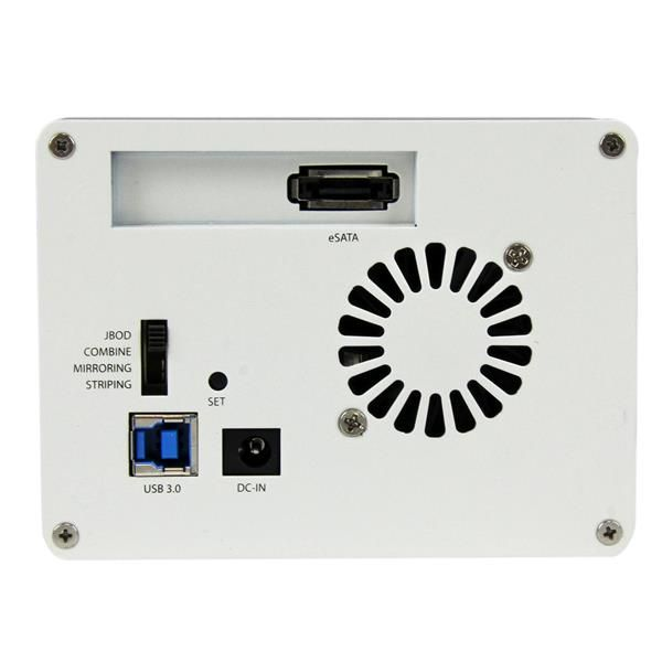 GABINETE EXTERN ESATA USB 3.0  UASP 2 BAHIAS 3.5 SATA BLANCO  STARTECH