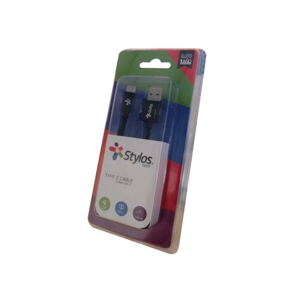 CABLE USB TIPO C STYLOS USB A-C BLINDADO STACTC1B