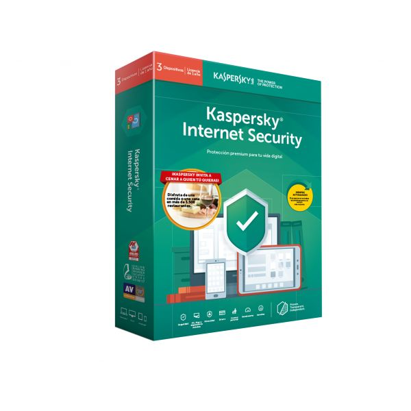 ANTIVIRUS KASPERSKY INTERNET SECURITY 1 USR 1 AÑO NUEVO LIC DIGITAL