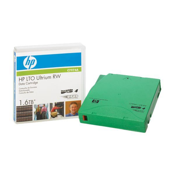 CARTUCHO DE DATOS REGRABABLE HPE LTO4 ULTRIUM 1.6TB C7974A