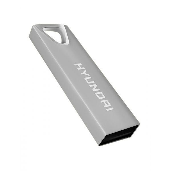 MEMORIA USB HYUNDAI U2BK/16GAS PLATA 16 GB USB 2.0 10 MB/S 3 MB/S