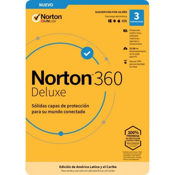 NORTON 360 DELUXE 3DV 1YR (TMNR-033)