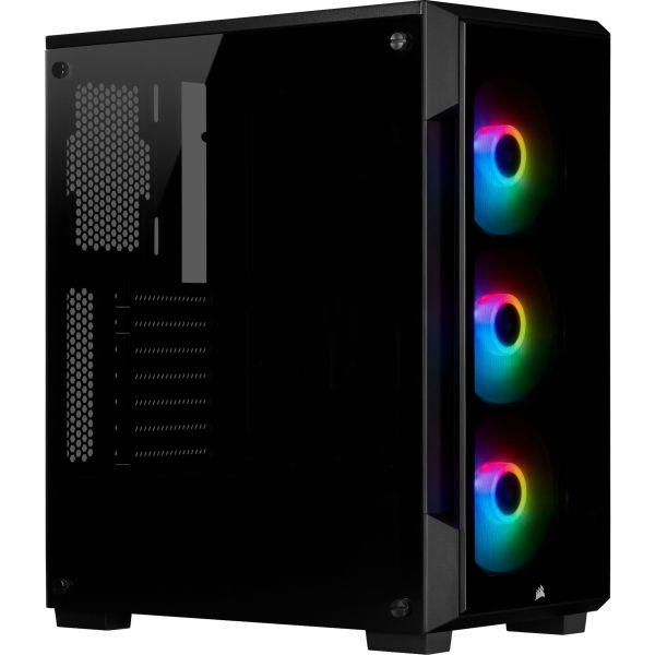 GABINETE GAMER CORSAIR ICUE 220T RGB TG BLACK CC-9011190-WW