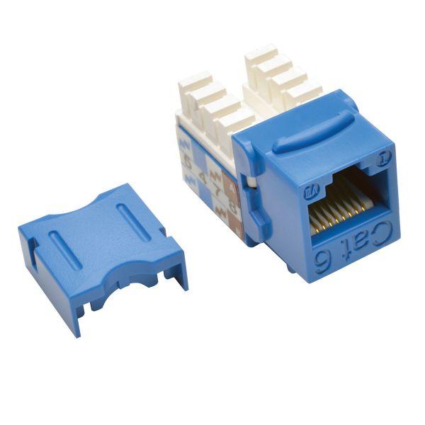 CONECTOR KEYSTONE TRIPP LITE JACK 110 PUNCHDOWN CAT6/5E AZUL 25pz