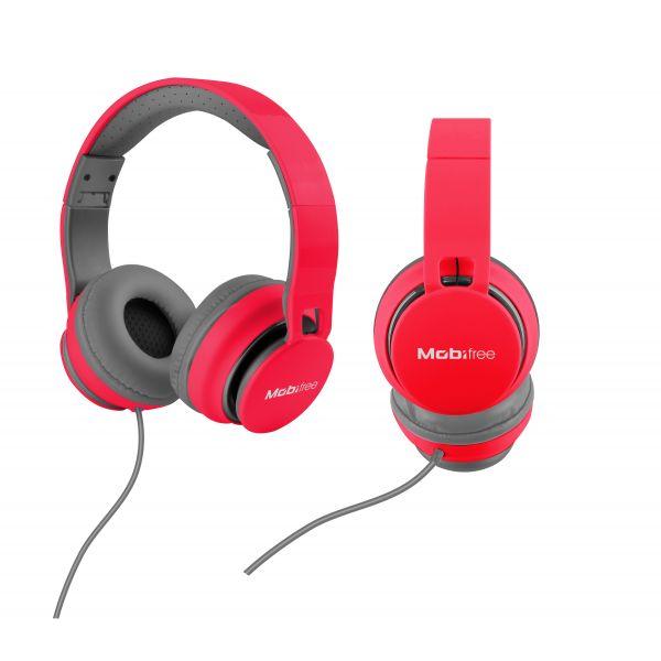 AUDIFONOS MANOS LIBRES ON EAR MOBIFREE KAOS CORAL 1.2 M -42 ± 3 DB