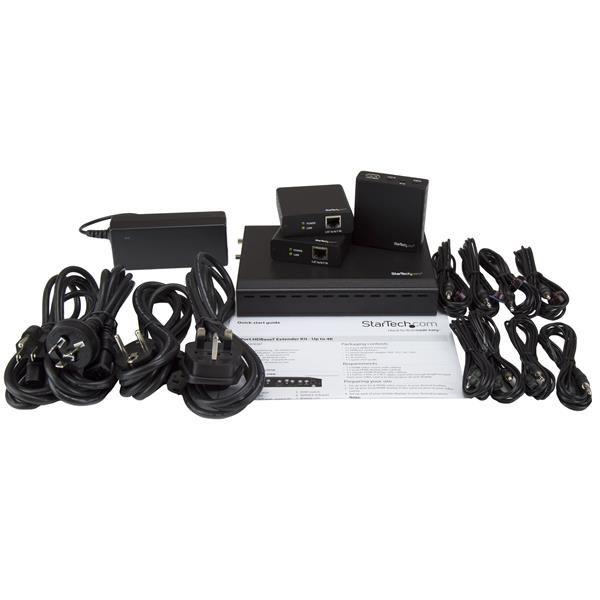 STARTECH EXTENSOR HDBASET 3 PUERTOS HDMI CABLE CAT5 4K RJ-45 ST124HDBT