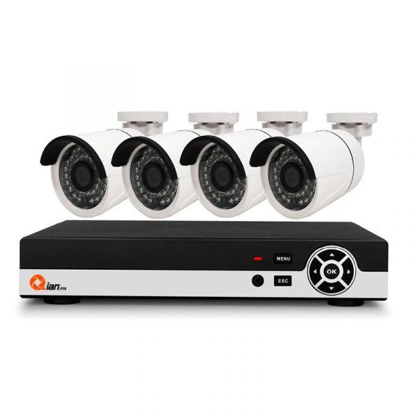 KIT CCTV QIAN YAO 4CAM/8CANALES HIBIRIDO (QKC4D81901)