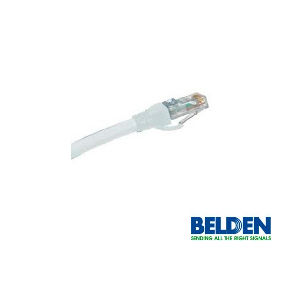 CABLE DE RED PATCHCORD UTP CAT6A BELDEN CA21109007 2.1MTS BLANCO