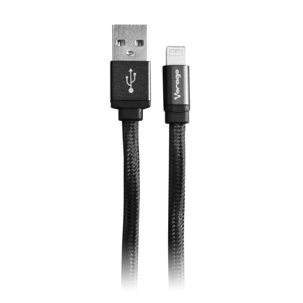 CABLE VORAGO CAB-119 NEGRO USB-APPLE LIGHTNING 1 METRO NEGRO BOLSA