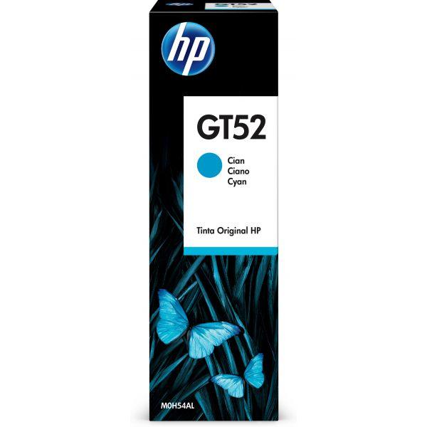 BOTELLA DE TINTA HP GT52 CYAN, 70ML M0H54AL