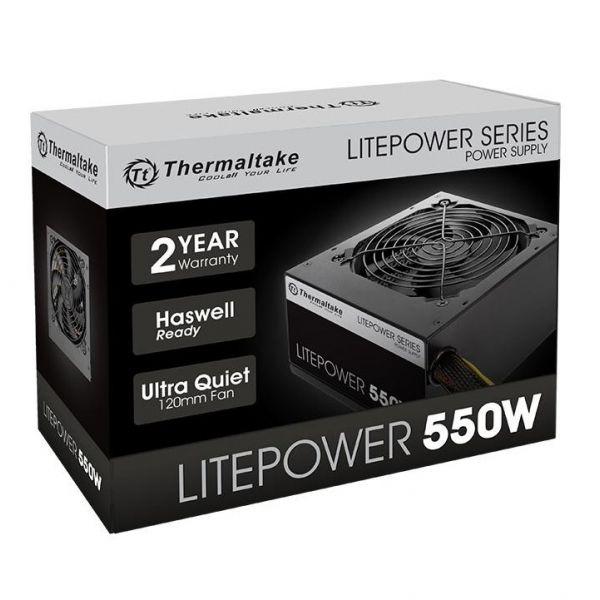 FUENTE DE PODER THERMALTAKE LITE POWER 550W 550W 110 220 PC NEGRO