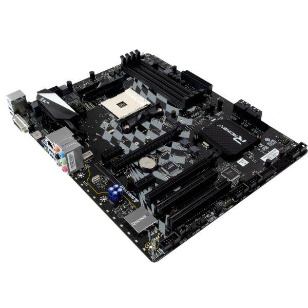 TARJETA MADRE BIOSTAR B350GT5 AM4 4 DDR4 DVI HDMI USB-C 2PCI-E 4 SATA