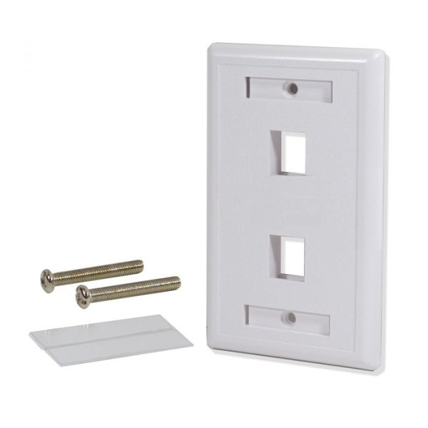 PLACA DE PARED LOGICO 2 COLOR BLANCO ABS SINTETICOS WP302