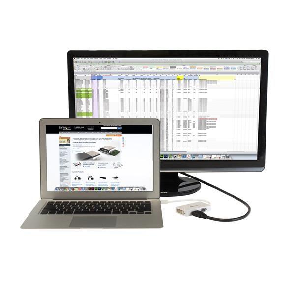 Adaptador MiniDisplayPort a VGA DVI HDMI Macbook  STARTECH MDP2VGDVHDW