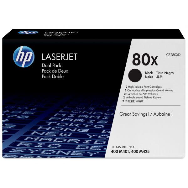 TONER HP 80X NEGRO DUAL PACK ALTO RENDIMIENTO PARA M425dn MFP/M401dn