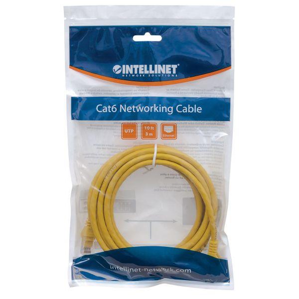 CABLE PATCH INTELLINET CAT6 UTP RJ-45 MACHO 50CM AMARILLO 342339
