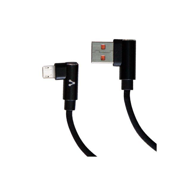 CABLE VORAGO CAB-305 USB A MICRO USB 2.4A1M 90 GRADOS NEGRO