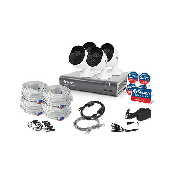 KIT DE VIDEO VIGILANCIA SWANN SWDVK-445804V ALAM 4CH INT/EXT 1080 P