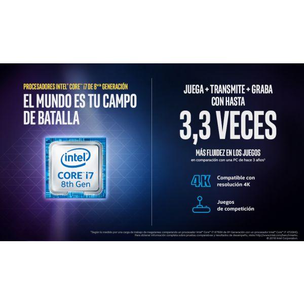 LAPTOP HP 15-BC403LA CORE I7 8750H 12GB 1TB 128GB GTX1050 4GB 15.6 W10