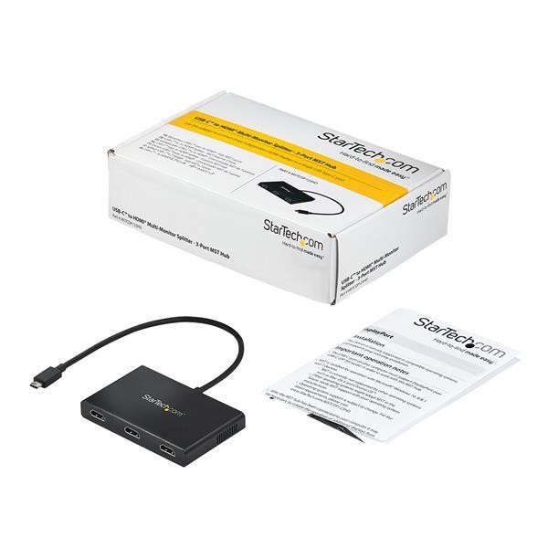 SPLITTER DIVISOR STARTECH.COM MSTCDP123HD USB-C A 3 PUERTOS HDMI