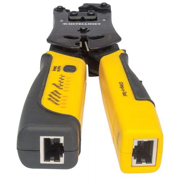 PINZA CRIMPEADORA INTELLINET RJ11/RJ12/RJ45 CON PROBADOR CABLES 780124