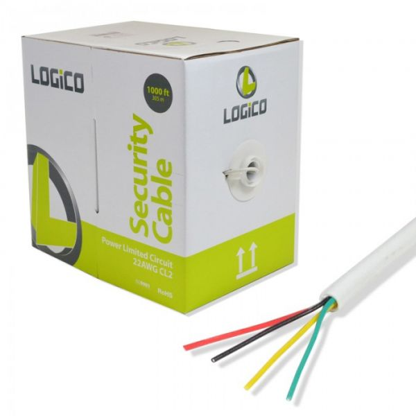 CABLE DE ALARMA LOGICO PLC4212 4x22 305 METROS COLOR BLANCO