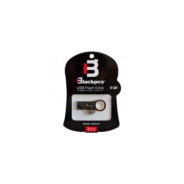 MEMORIA USB 2.0 BLACKPCS 8GB NEGRA METALICA MU2102BL-8