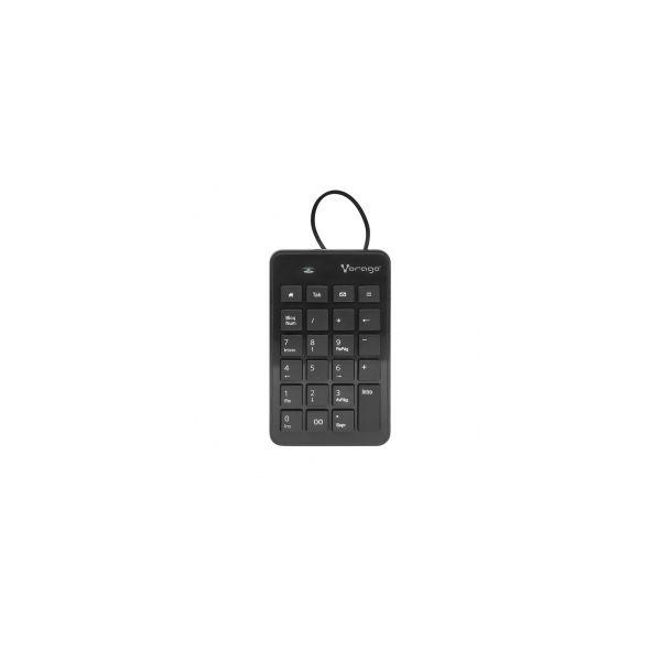TECLADO NUMERICO VORAGO KB-106 USB MULTIMEDIA