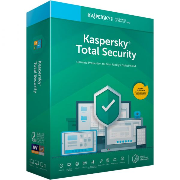ANTIVIRUS KASPERSKY TOTAL SECURITY MULTIDEVICES  3 USR 1 AÑO TMKS-177