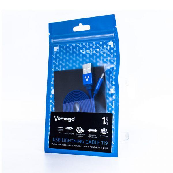 CABLE USB VORAGO CAB-113 AZUL USB 2 A MICRO USB 1.0 METROS BOLSA