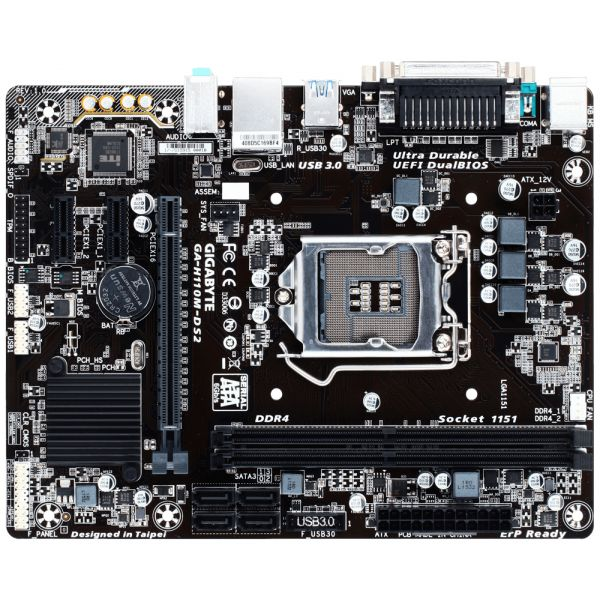 TARJETA MADRE GIGABYTE GA-H110M-DS2 DDR4 LGA1151 MICRO ATX