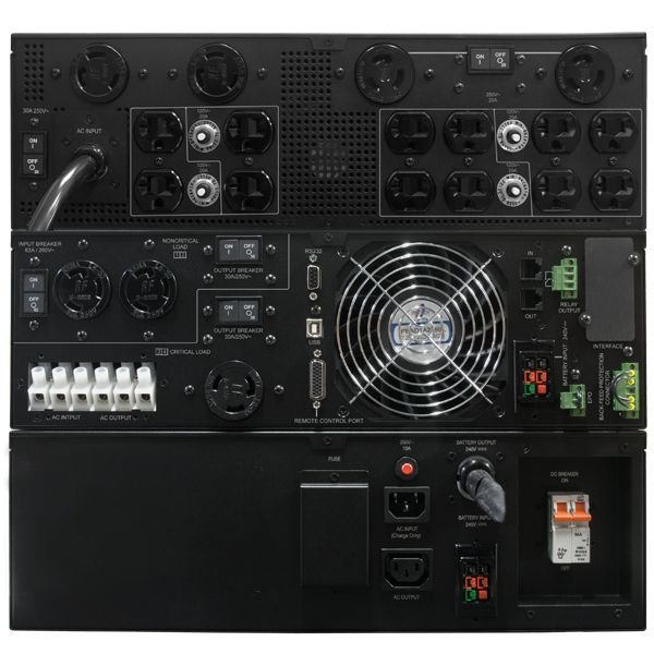 NO BREAK CYBERPOWER 8000VA,LCD 7200W,ONLINE,208-120V,REQ.INSTAL.3Y