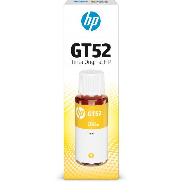 BOTELLA DE TINTA HP GT52 AMARILLO, 70ML M0H56AL