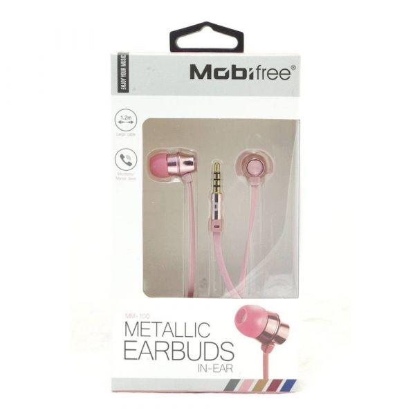 AUDIFONOS ACTECK IN-EAR CON MICROFONO METALICOS COLOR ROSA MB-02016