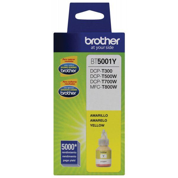 BOTELLA DE TINTA BROTHER BT5001Y AMARILLO 5,000 PAGINAS