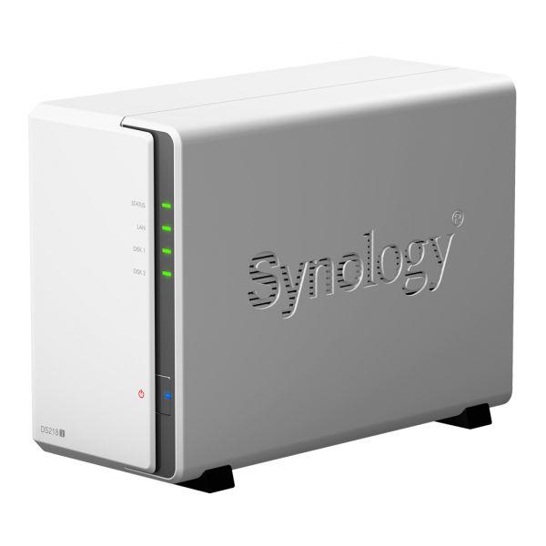 NAS SYNOLOGY 2 BAHIAS 24 TB MAX DOBLE NUCLEO 1.3 GHZ DS218J